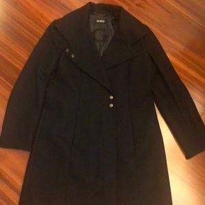 Guess wool coat, black, L